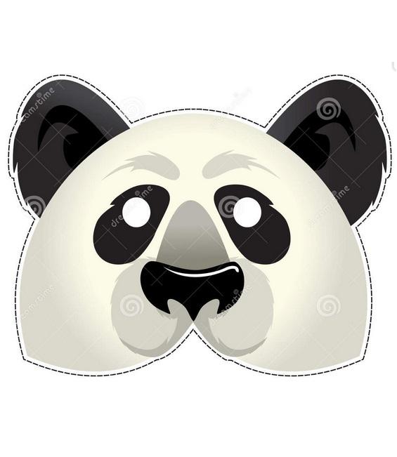 Маска панда своими руками