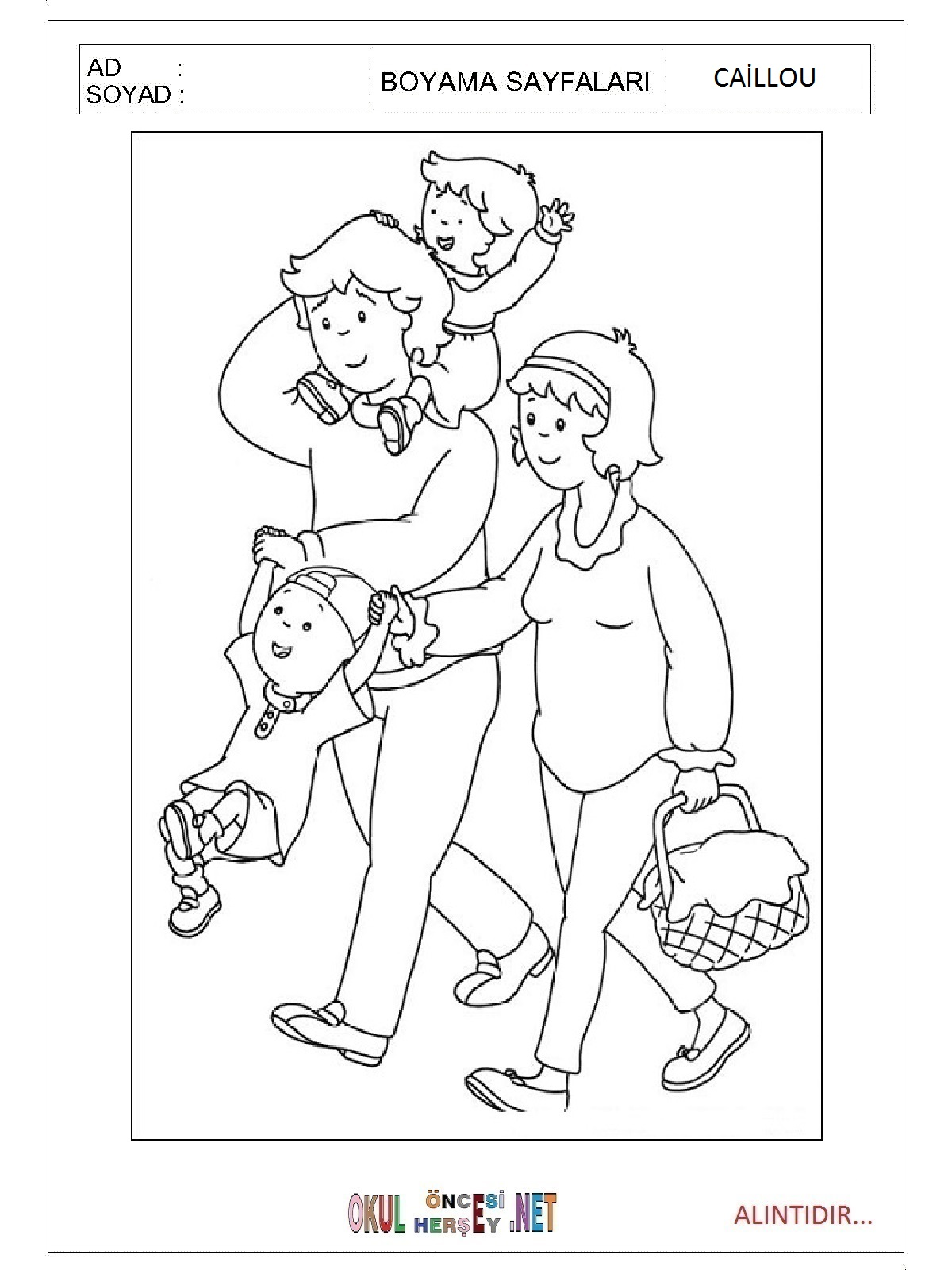Family coloring pictures for kids Free Printable Coloring Pages for Kids Coloring