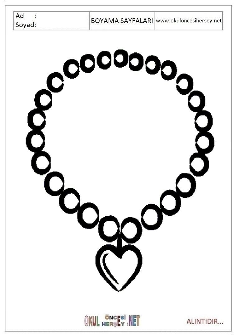 такого раскраска ожерелье распечатать новым человеком