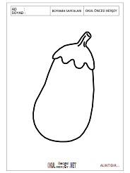 Patlıcan boyama sayfası patlıcan boyama sayfası patlıcan boyama