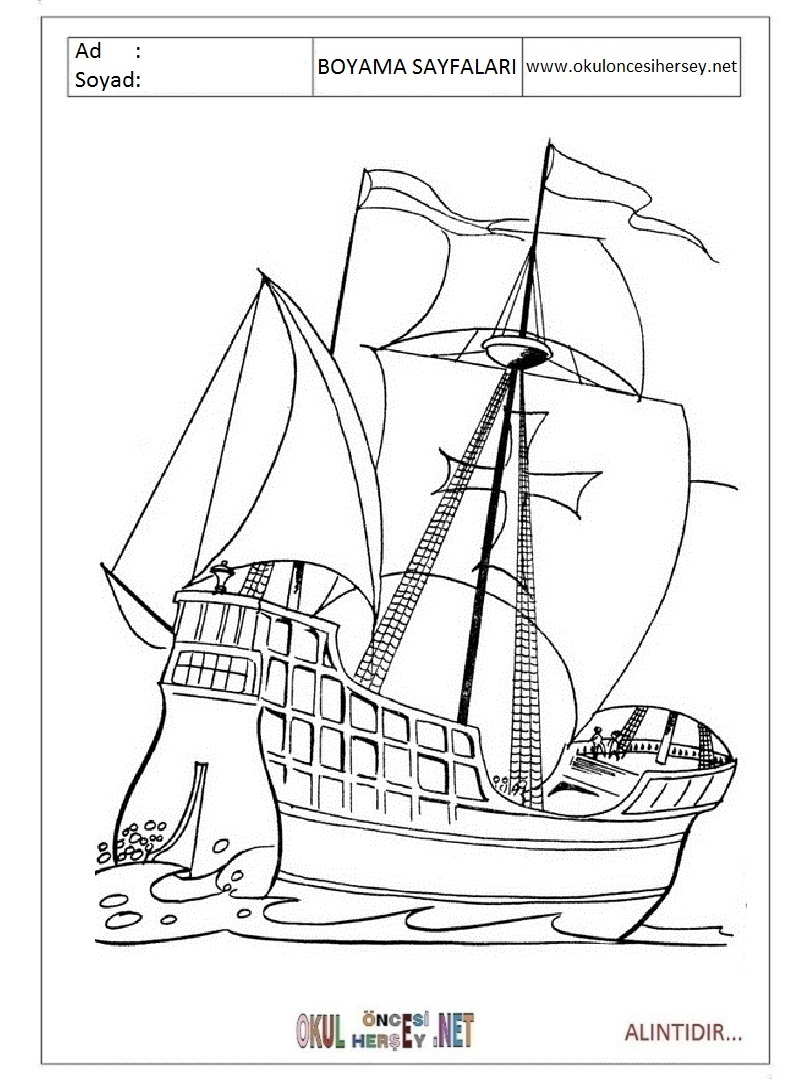 Columbus coloring pages printable