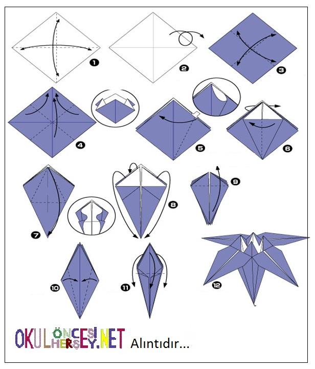 Как сделать пароход из бумаги двухтрубный схема оригами